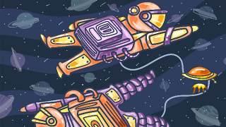 创意手绘抽象插画儿童涂鸦幻想太空外星海报背景PSD模板设计素材14