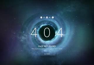 星空宇宙星球网页404错误页面PSD模板11