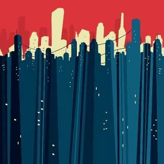 欧美艺术绘画创意美术手绘涂鸦抽象人物场景插画eps矢量设计素材-21