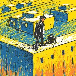 欧美艺术绘画创意美术手绘涂鸦抽象人物场景插画eps矢量设计素材-8