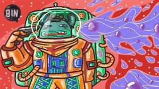 创意手绘抽象插画儿童涂鸦幻想太空外星海报背景PSD模板设计素材11