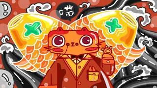 创意手绘抽象插画儿童涂鸦幻想太空外星海报背景PSD模板设计素材08