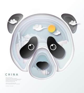 创意剪纸立体中国北京上海地图城市建筑插图AI矢量设计素材(7)