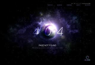 星空宇宙星球网页404错误页面PSD模板01