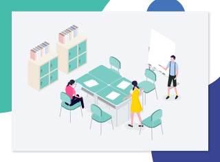 UI设计2.5D工作学习场景立体三维插画作品网页插图APP素材(18)
