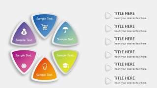 PPT信息图表元素圆形六项