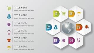 PPT信息图表元素六边形组合图形