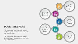 PPT信息图表元素互联网社交图标