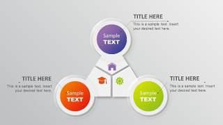 PPT信息图表元素三角圆形组合
