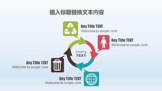 PPT信息图表元素循环图形