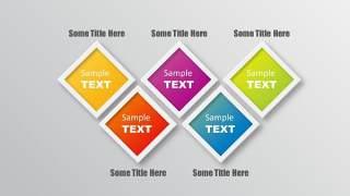 PPT信息图表元素五项方形组合
