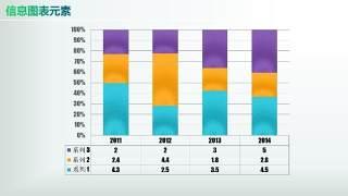 彩色PPT信息图表元素4-2