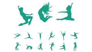 PPT图形人物体操锻炼