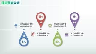 彩色PPT信息图表元素7-28