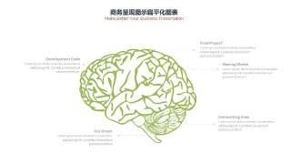 PPT信息图表商务情景头脑
