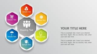 PPT信息图表元素六边形组合圆形