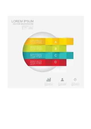 现代设计元素信息图形贴纸和横幅12