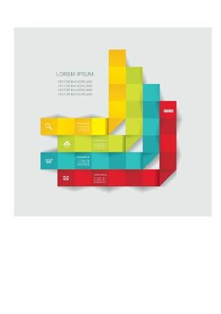 现代设计元素信息图形贴纸和横幅08