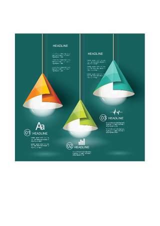 现代设计元素信息图形贴纸和横幅13