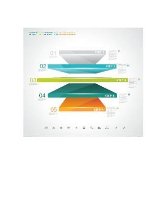 现代设计元素信息图形贴纸和横幅04