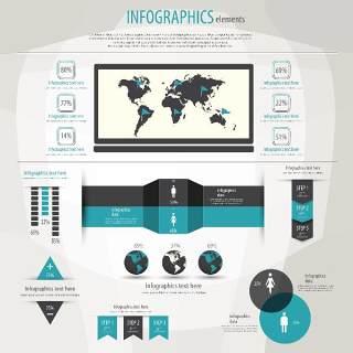 信息图形集世界地图和信息图形20