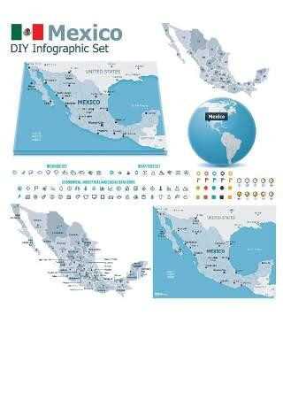 世界地图信息图表203