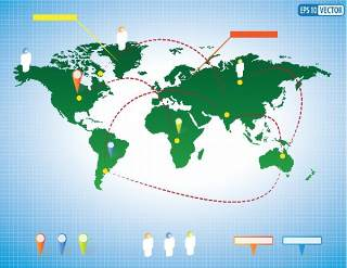 独家世界地图信息图表01