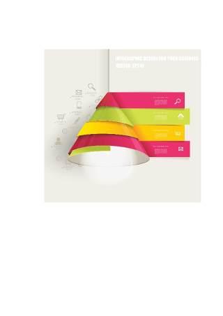 现代设计元素信息图形贴纸和横幅10