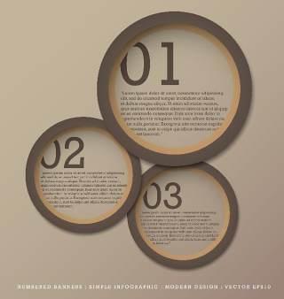 数字横幅信息图形的现代设计07