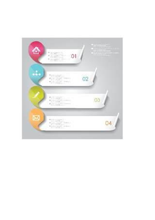 现代设计元素信息图形贴纸和横幅51