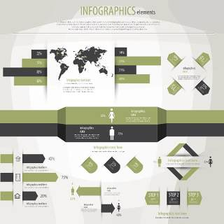 信息图形集世界地图和信息图形12