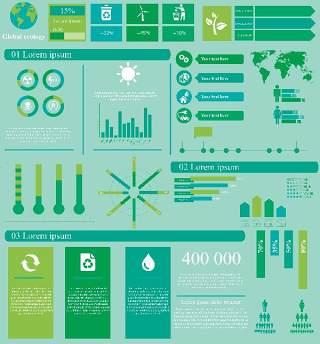 生态信息图模板310