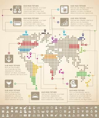 独家世界地图信息图表04