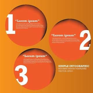 数字横幅信息图形的现代设计01