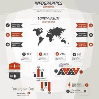 信息图形集世界地图和信息图形18