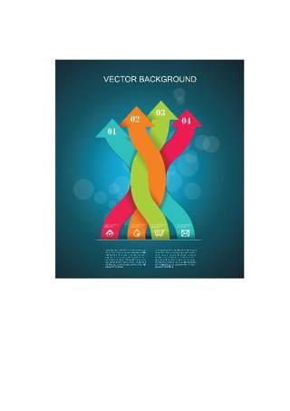 现代设计元素信息图形贴纸和横幅17