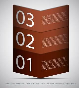 数字横幅信息图形的现代设计06
