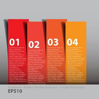 数字横幅信息图形的现代设计04