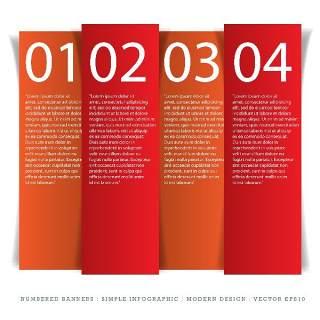 数字横幅信息图形的现代设计05
