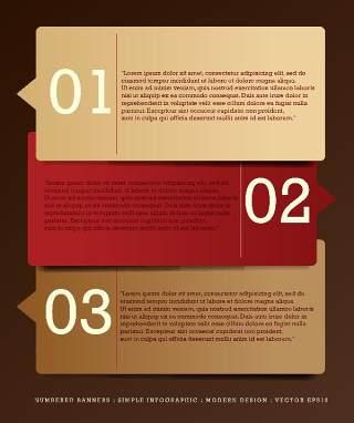 数字横幅信息图形的现代设计10