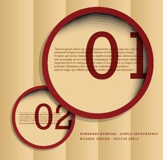 数字横幅信息图形的现代设计09