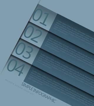 数字横幅信息图形的现代设计02