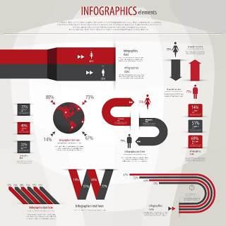 信息图形集世界地图和信息图形13