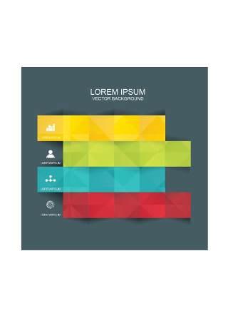 现代设计元素信息图形贴纸和横幅19