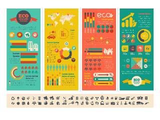 信息图形集世界地图和信息图形11