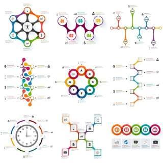 信息图表和业务设计矢量14(2)