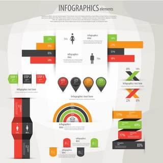 信息图形集世界地图和信息图形01
