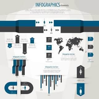 信息图形集世界地图和信息图形14