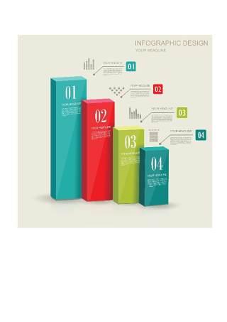 现代设计元素信息图形贴纸和横幅11