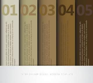 数字横幅信息图形的现代设计03